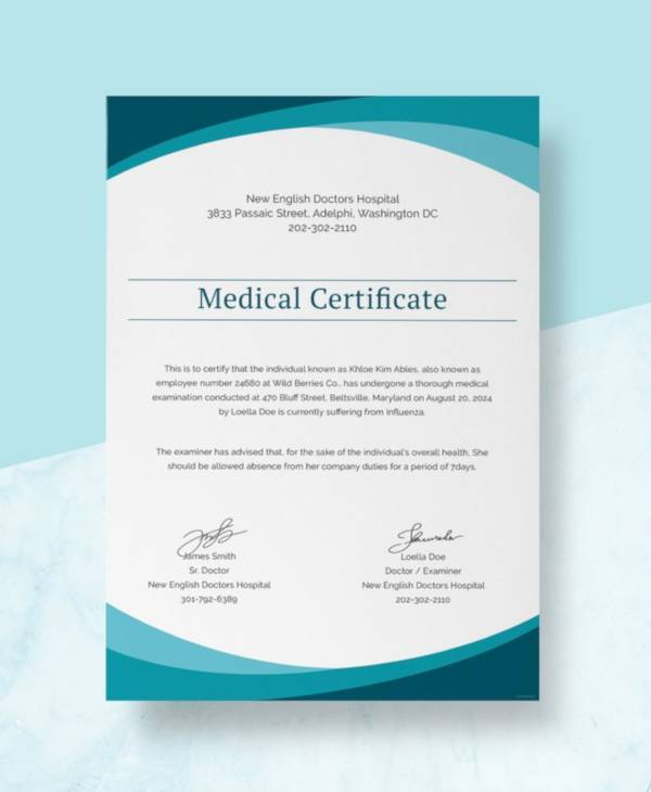 14+ Sample Medical Certificate from Doctor - PDF, Word