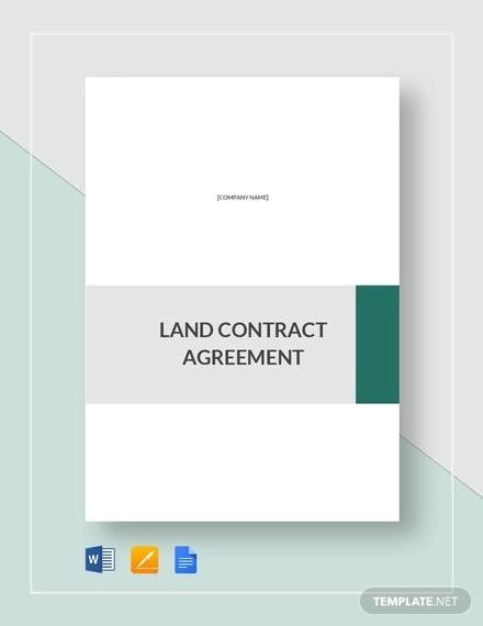 Sample Land Contract Agreement - 9+ Examples in Word, PDF