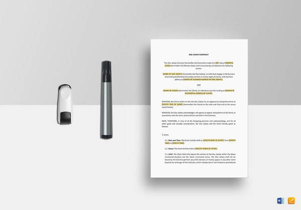 14+ Event Planner Contract Samples Sample Templates