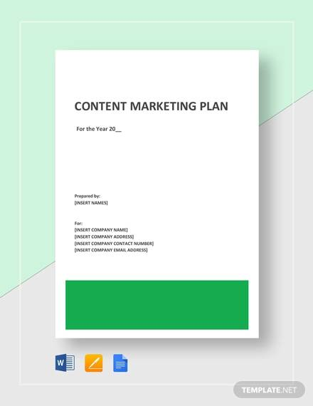 8+ Sample Content Marketing Plans - Examples in Word, PDF