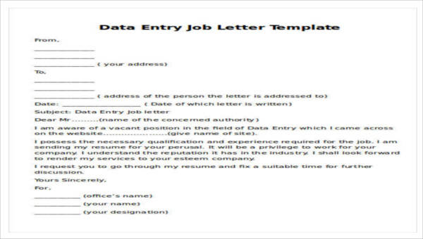 Sample Job Proposal Letter - 7+ Examples in PDF, Word