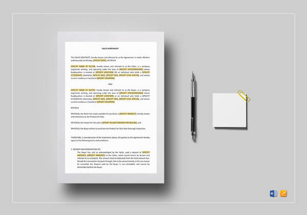 Sample Installment Sales Contract - 12+ Examples in Word, PDF