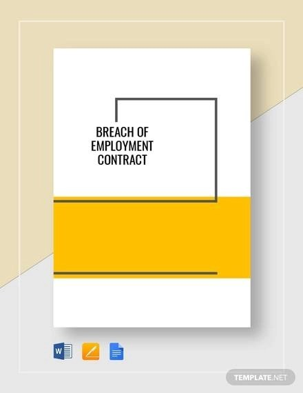 7+ Breach of Employment Contract Sample Templates - Word, Docs