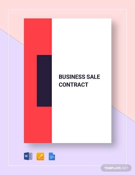 7+ Sample Business Sale Contract Templates - Docs, Pages
