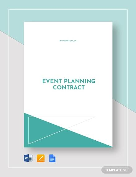 Event Planner Contract Sample - 14+ Examples in Word, PDF, Google Docs