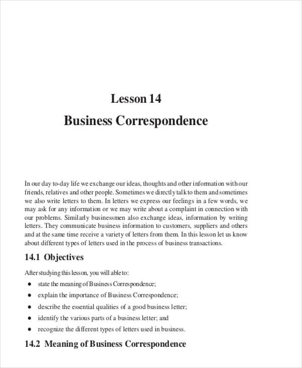 sample of business letter pdf - Romeolandinez