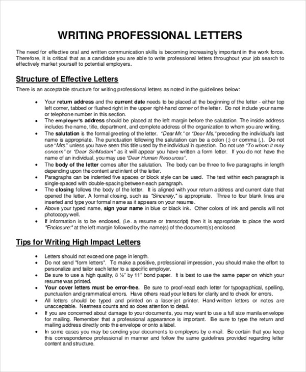 Business Letter Writing Format Pdf sample business letters format