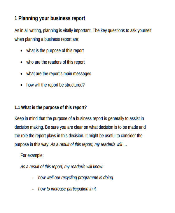 Business-report-sample-46 business report template sample - format for a business report