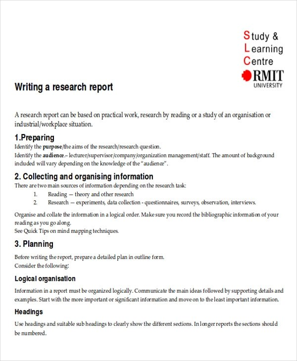 Research Project Report 8+ research report templates - free word - research project report