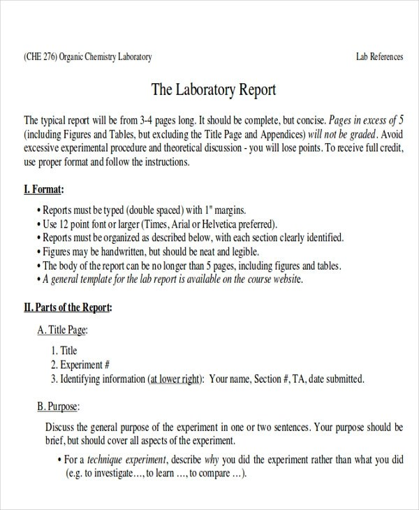 10 Sample Lab Reports Sample Templates