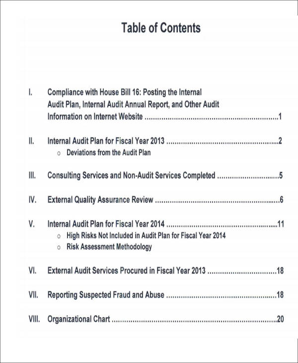 Sample Internal Audit Report - 8+ Examples in PDF, Word - audit report