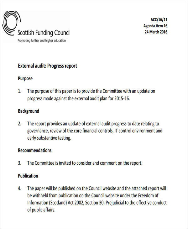 7+ Sample External Audit Reports- Docs, MS Word, Page7+ Sample