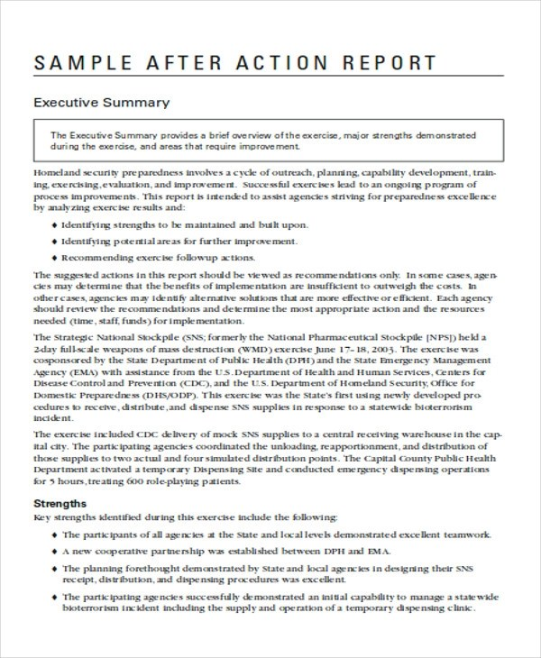 10+ Sample Action Report - Free Sample, Example, Format Download