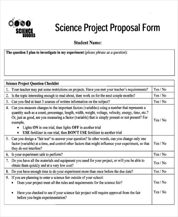 44+ Proposal Form Templates Sample Templates - proposal form template