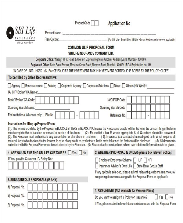 44+ Proposal Form Templates Sample Templates - free proposal forms
