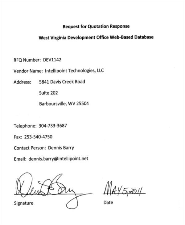 27+ Sample Quotation Letters - PDF, DOC - best of sample letter for response to a request
