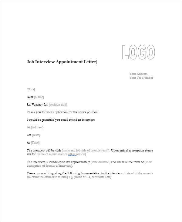 45+ Appointment Letter Formats Sample Templates - job appointment letter