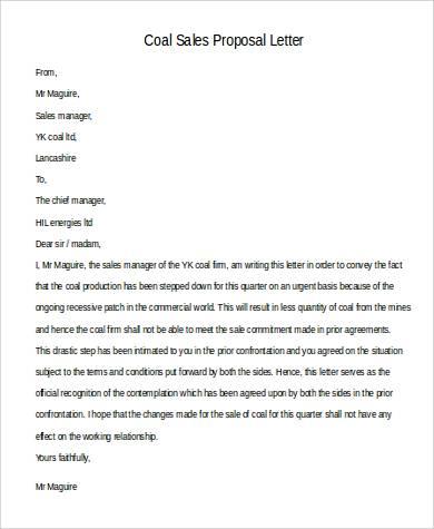 42+ Sample Proposal Letters Sample Templates - sales proposal letter