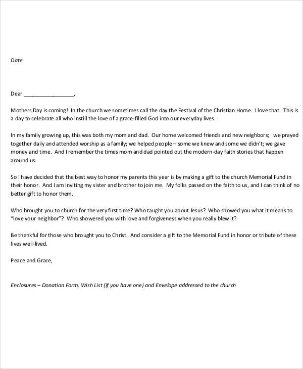 Example Of Gift Letter For Money Poemsrom