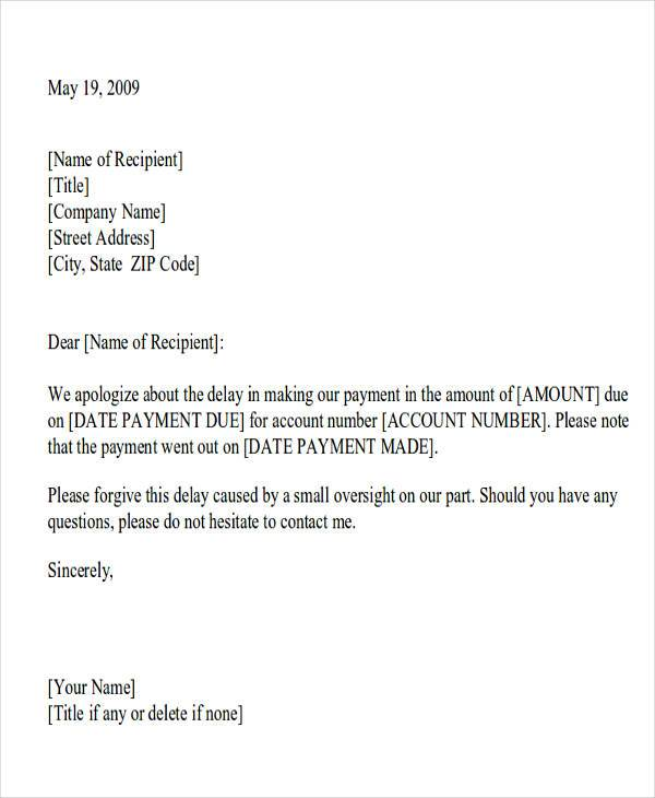 Awesome Apology Letter For Being Late Contemporary - Resume - apology letter for being late