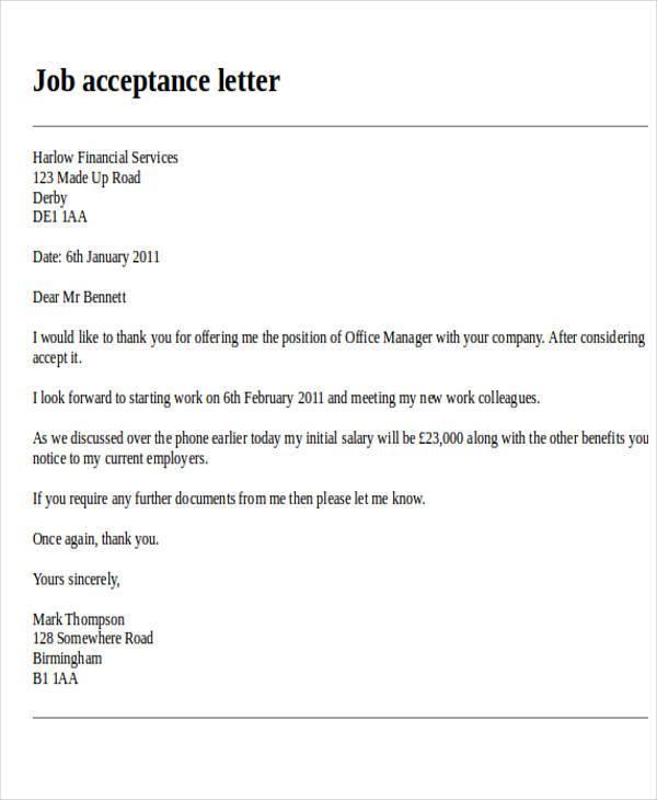 Formal Letter Format Job