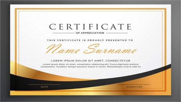 23+ Blank Award Certificates Sample Templates