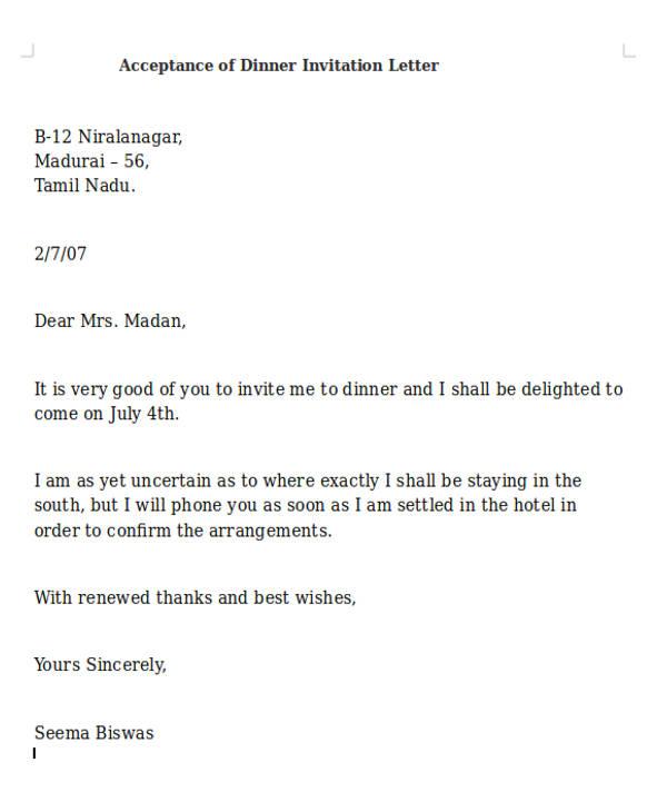 16+ Formal Invitation Letters Sample Templates