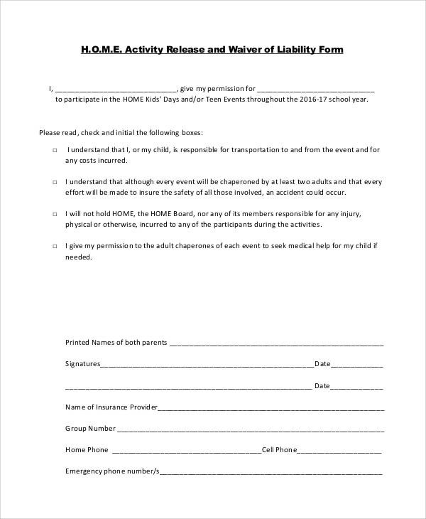 generic liability waiver and release form - 28 images - 7 sle - generic photo release form