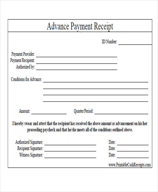 advance rent receipt format - Ozilalmanoof - advance payment receipt