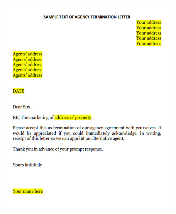 35+ Agreement Letter Formats Sample Templates