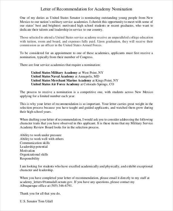 air force academy recommendation letter - Boatjeremyeaton - air force letter of recommendation