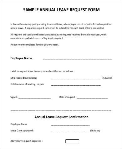 29+ Leave Letter Formats Sample Templates