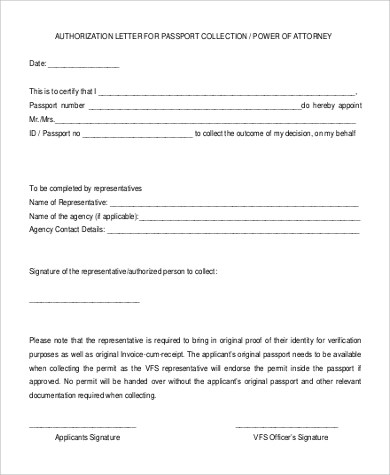 55+ Authorization Letter Samples \u2013 PDF, DOC Sample Templates