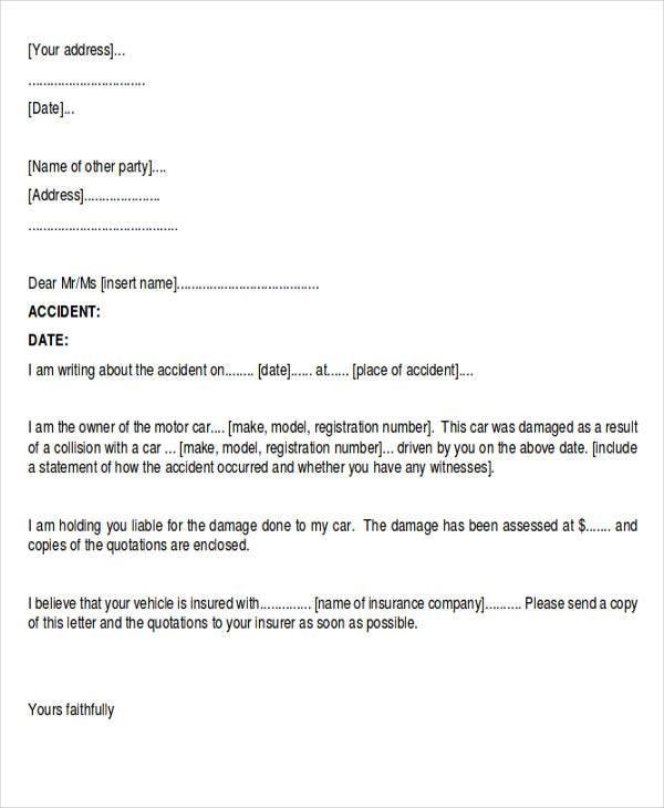 sample demand letter for car accident - Mavij-plus