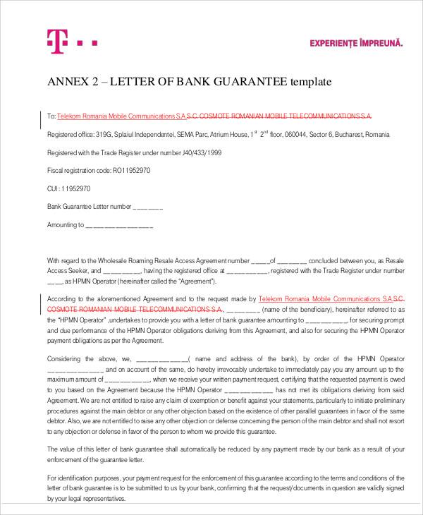 51+ Guarantee Letter Samples \u2013 PDF Sample Templates