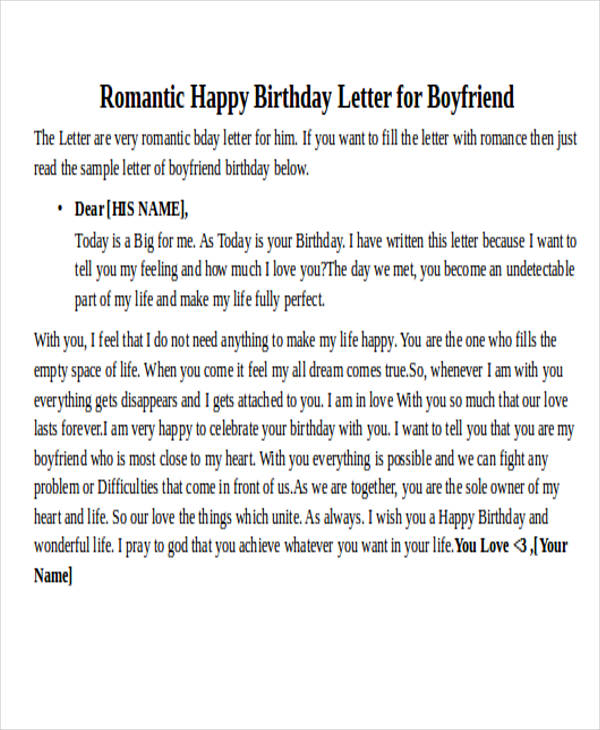 Love Letter Examples - love letter template for him