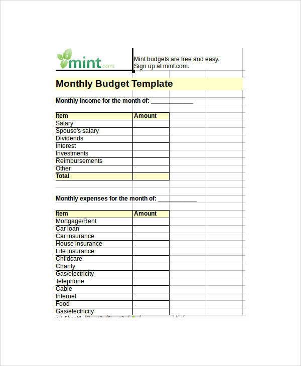 Blank Spreadsheet Template. 9+ inventory spreadsheet example ...