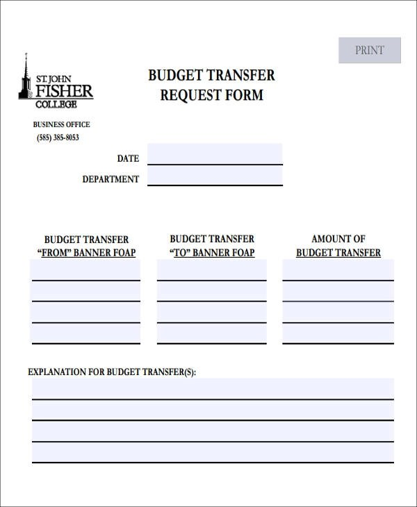 Modern Budget Request Form Picture Collection - Resume Ideas - free budget form