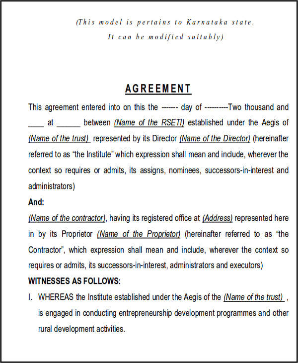 25 Construction Agreement Forms  Templates Sample Templates