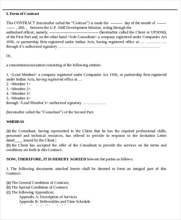 35+ Consulting Agreement Examples Sample Templates - consulting agreement form