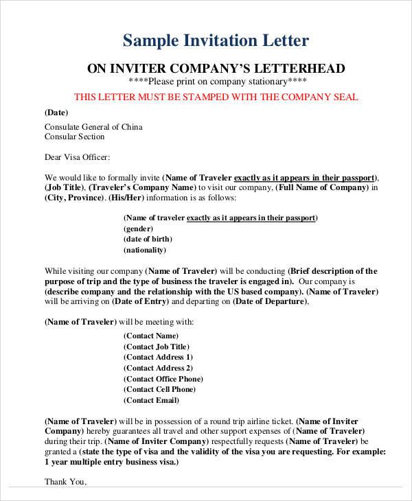 34+ Sample Invitation Letters \u2013 PDF, Word, Apple Pages Sample - business invitation letters