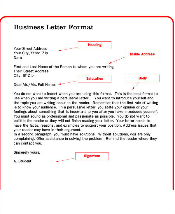 37+ Sample Business Letters in PDF