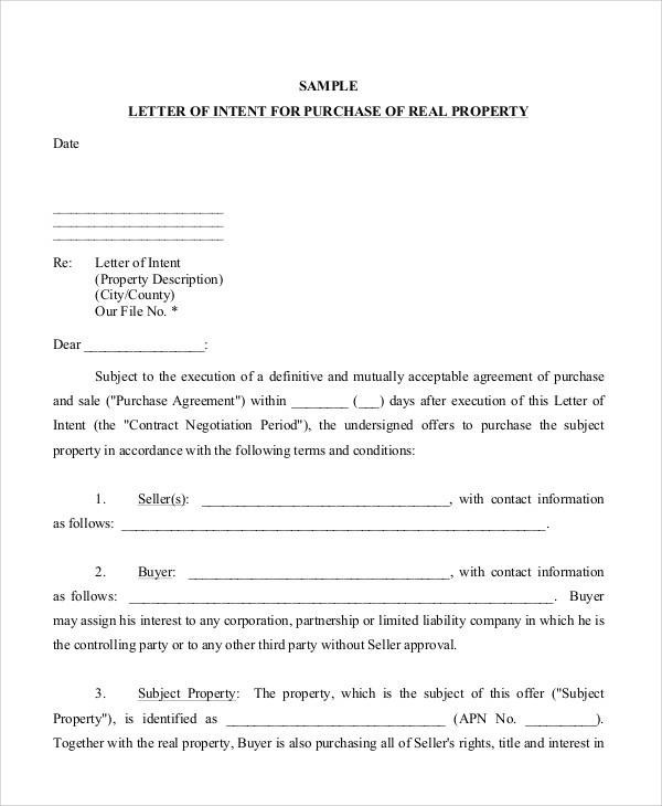 37+ Sample Business Letters in PDF Sample Templates - Business Letter Of Intent Template
