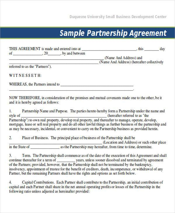 company partnership agreement - Vatozatozdevelopment - Business Partner Agreement