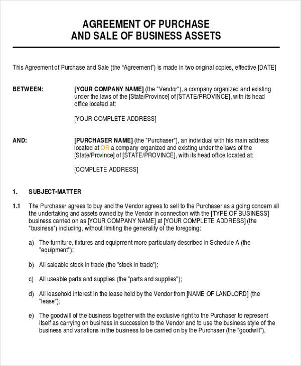 28+ Business Agreement Forms Sample Templates