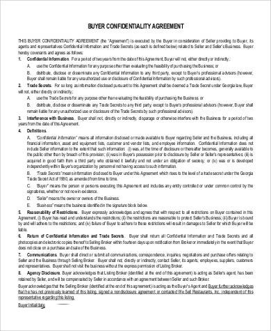 53+ Confidentiality Agreement in PDF Sample Templates