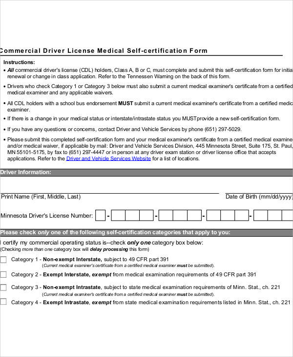 Cdl Medical Form | colbro.co