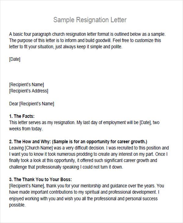 65+ Sample Resignation Letters