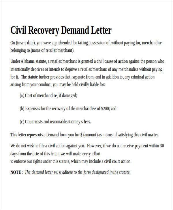 Demand Letter Examples - demand letter