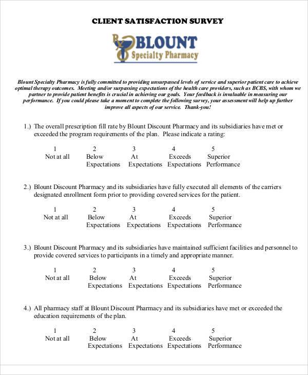 60+ Sample Survey Forms Sample Templates - survey form